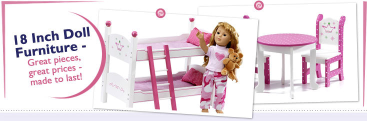18 Inch Doll Furniture fits American Girl Dolls