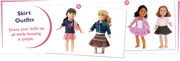 18 Inch Doll Skirt Outfits Fit American Girl Dolls