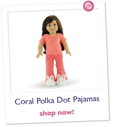 Coral Polka Dot Pajamas/PJs plus Bunny Slippers