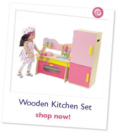 Multicolored Wooden Kitchen Set with Accessories