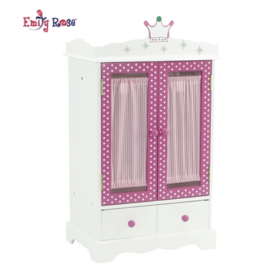18-inch Doll Furniture - Armoire Closet - fits American ...