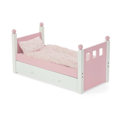 18 Inch Doll Furniture Single Bed With Trundle Fits American Girl Dolls