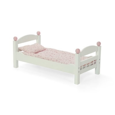 18 Inch Doll Furniture White Single Bunk Bed With Bedding Fits American Girl Dolls