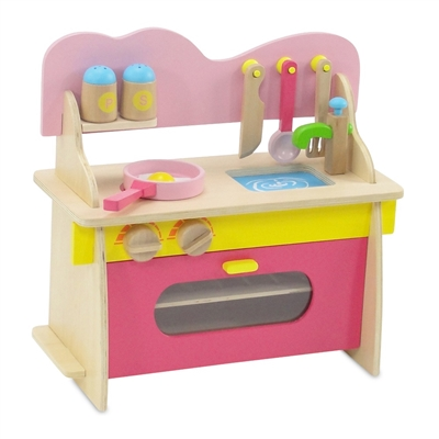 18 Inch Doll Furniture Multicolored Wooden Kitchen Set With Accessories Fits American Girl