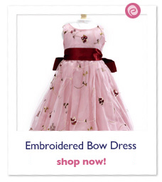 Embroidered Bow Dress