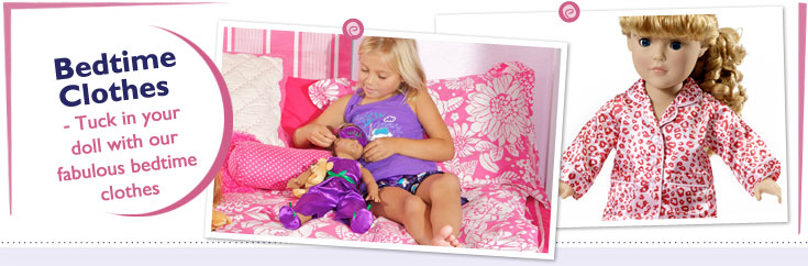 18 Inch Doll Bedtime Clothes fit American Girl Dolls