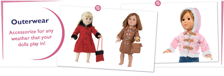 18 Inch Doll Outerwear fits American Girl Dolls