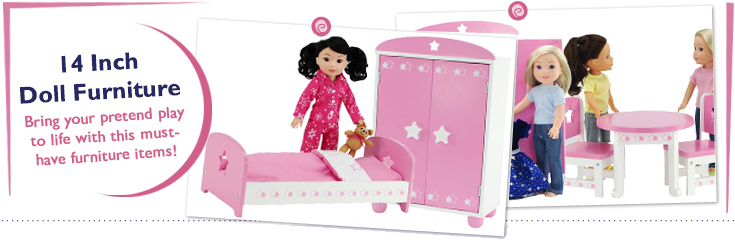 14 Inch Doll Furniture fit American Girl Dolls
