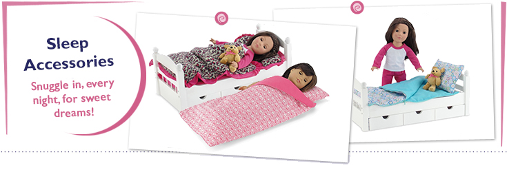18 Inch Doll Sleep Accessories fit American Girl Dolls